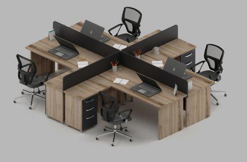 4lü Çalışma Masası Ölçüleri