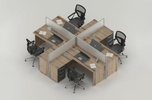 Bursa 4lü Çalışma Masası Özellikleri