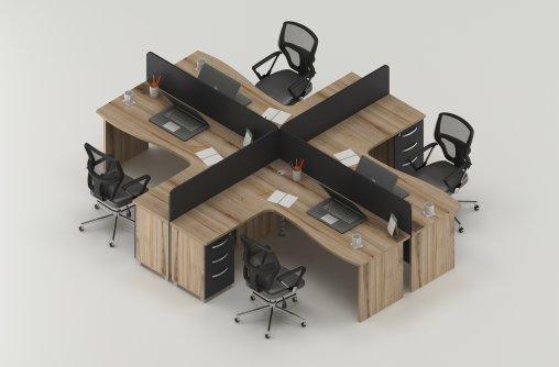 4lü Çalışma Masası Satın Al
