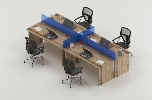4lü Çalışma Masası Modelleri
