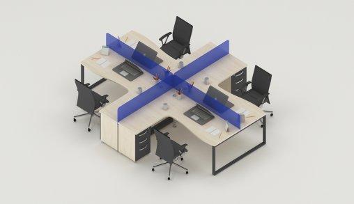 4lü Ofis Masası Modelleri Bursa