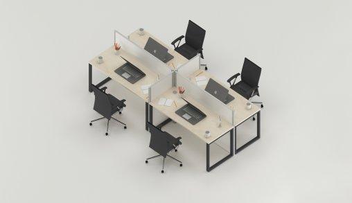 Bursa 4lü Ofis Masası