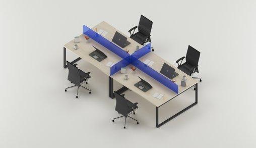 4lü Ofis Masası Özellikleri