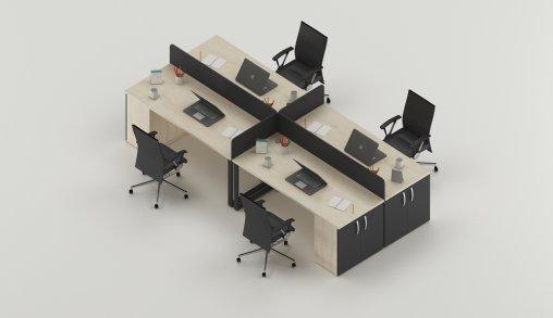 4lü Ofis Masası Ölçüleri