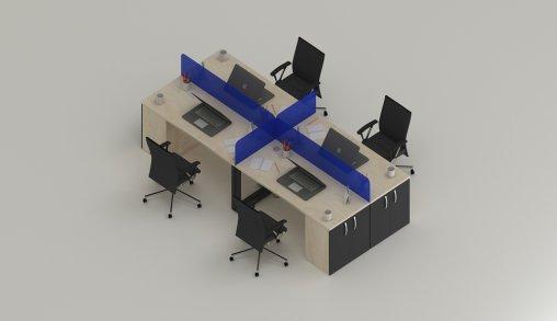 4lü Ofis Masası Örnekleri