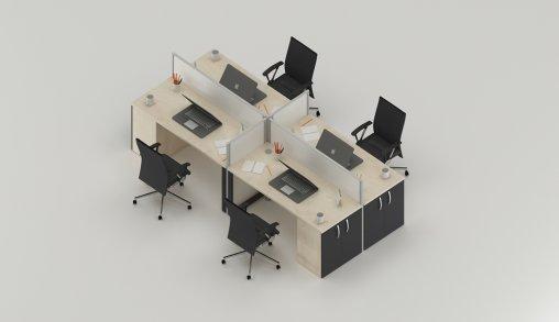 Bursa 4lü Ofis Masası Satışı