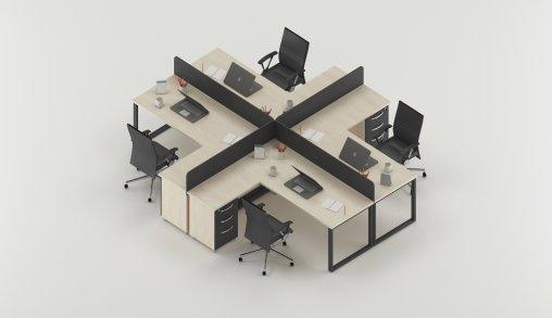 Bursa 4lü Ofis Masası Satın Al