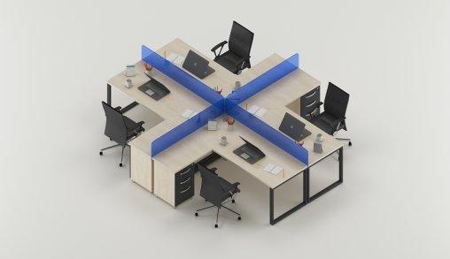 Bursa 4lü Ofis Masaları Örnek
