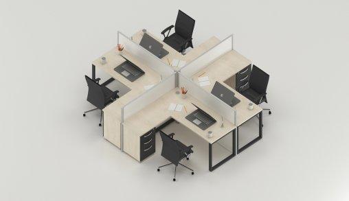 Bursa 4lü Ofis Masaları Fiyat