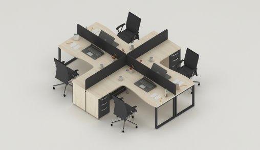 4lü Ofis Masaları Fiyat