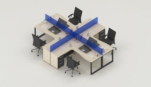 Bursa 4lü Ofis Masaları Ebat