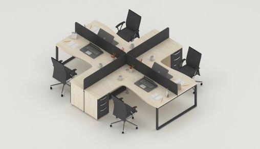 4lü Çalışma Masası Grubu Örneği