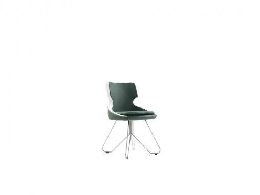 Yaprak Ayaklı Kromaj Sandalye